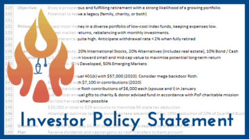 You Need an Investor Policy Statement
