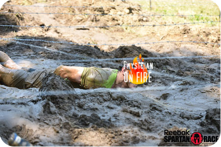 spartan race barbed wire