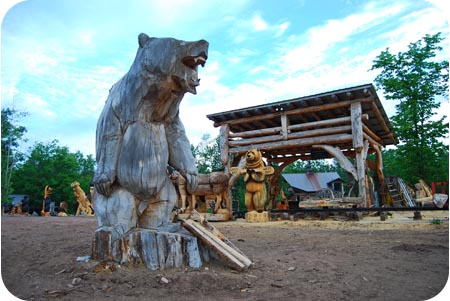 big chainsaw bear