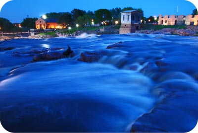 Sioux Falls at night