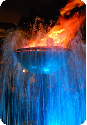 flame fountain