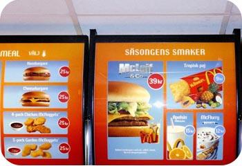 Swedish McDonalds