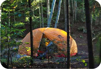 Orange MSR Tent