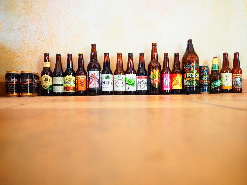 muchas cervezas artesenales