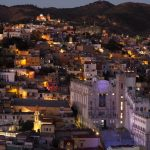 University of Guanajuato in the evening