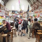 Hidalgo Market food stands