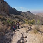 Climbing up La Bufa trail