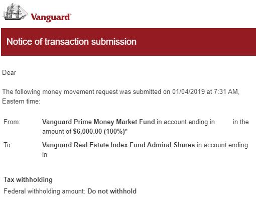 Vanguard Backoor Roth 2019 19