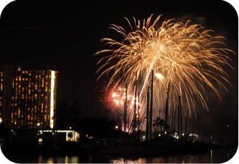 Friday Fireworks Waikiki