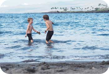Kids Black Sand Beach