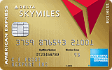 Gold Delta Skymiles Business Card