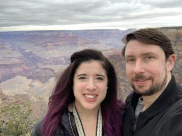 Mrs. Minafi and I at the Grand Canyon
