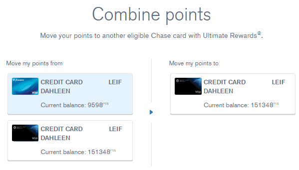 Chase-Combine-Points