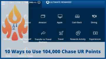 10 Ways to Use 122,500 Chase Ultimate Rewards Points